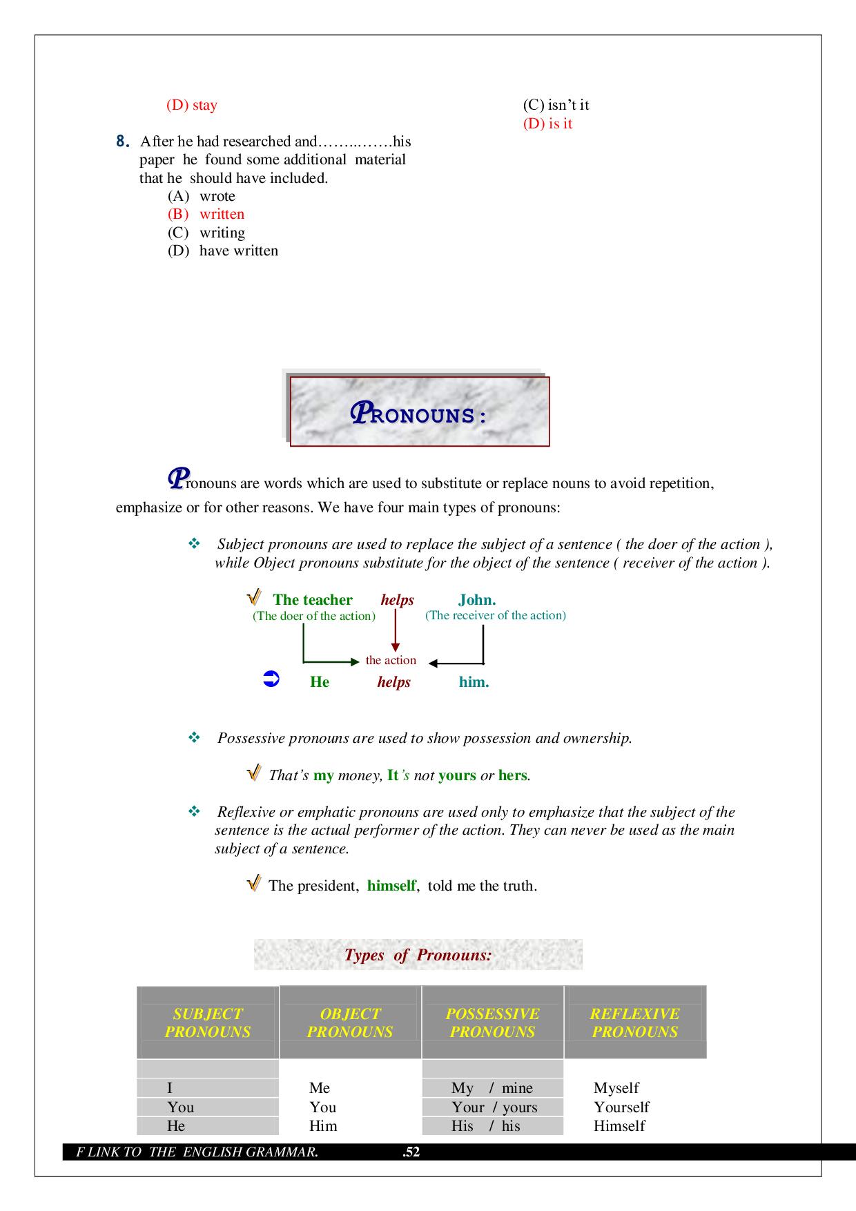 Grammar - Advanced