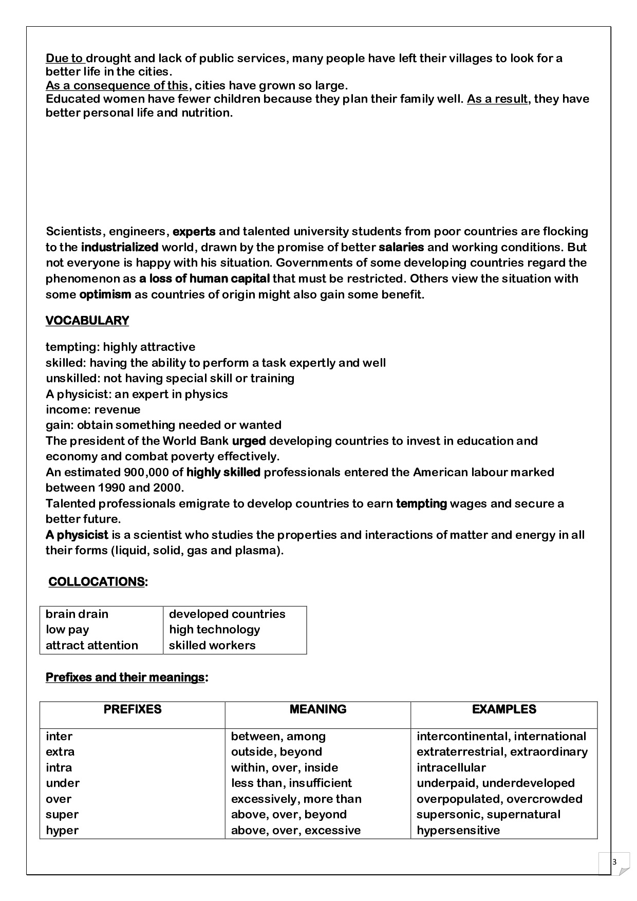 Brain Drain Examples Images Example Cover Letter For Resume