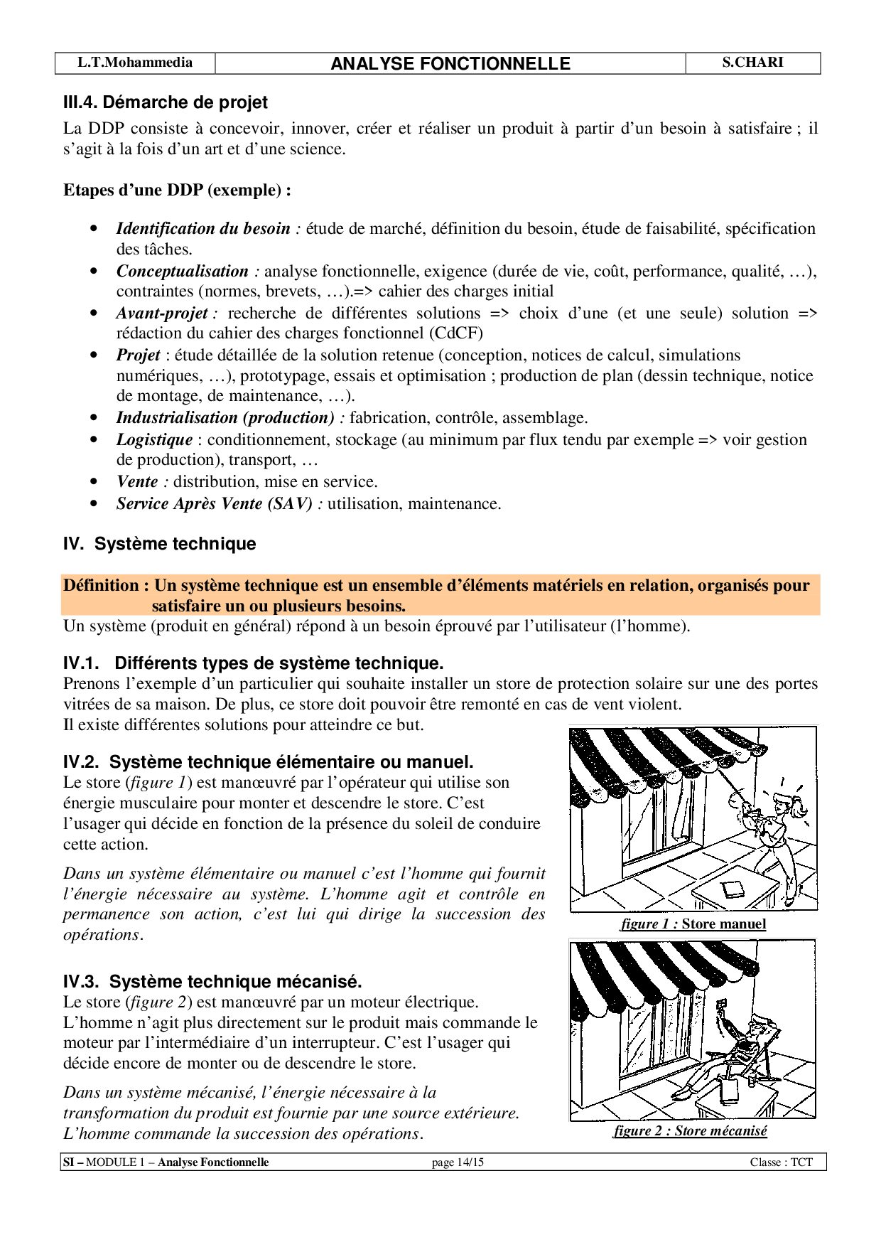 Module 1  Analyse Fonctionnelle  - Cours 1