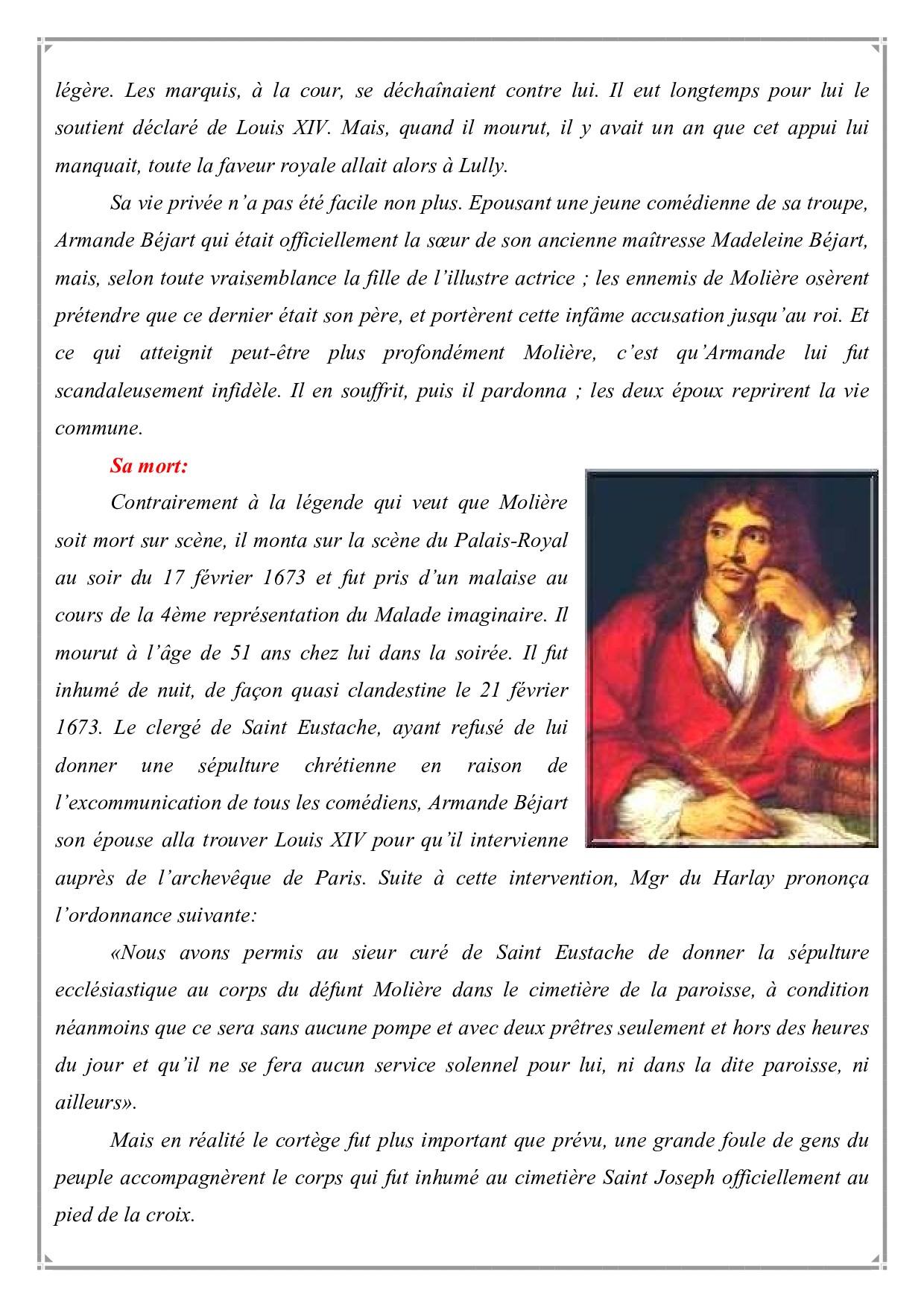 Biographie de Moli  re  AlloSchool