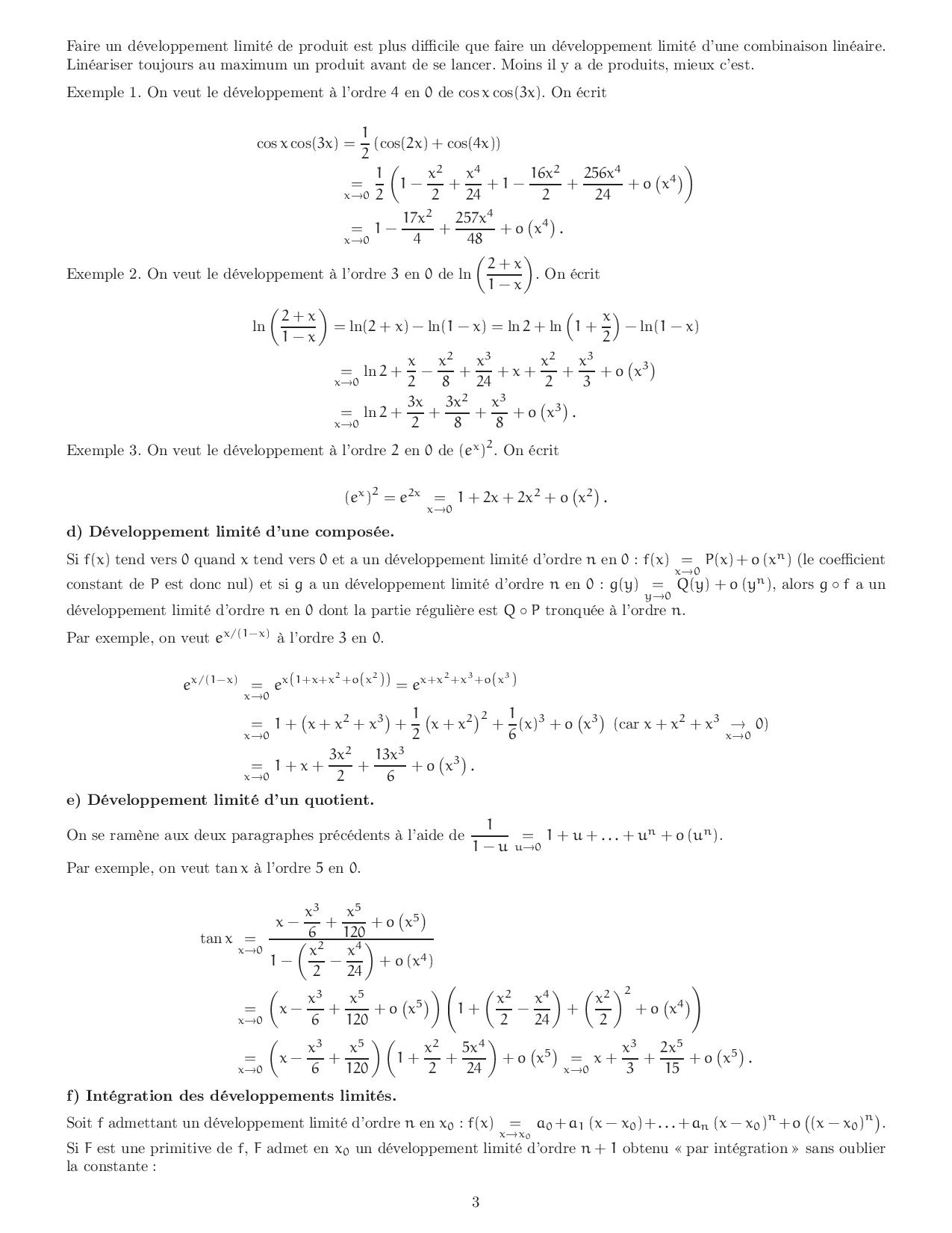 D 233 Veloppements Limit 233 S Et 233 Quivalents Alloschool