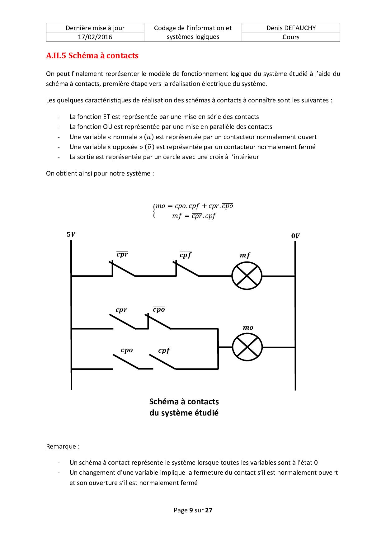Cours complet : Logique combinatoire (Codage de l ...