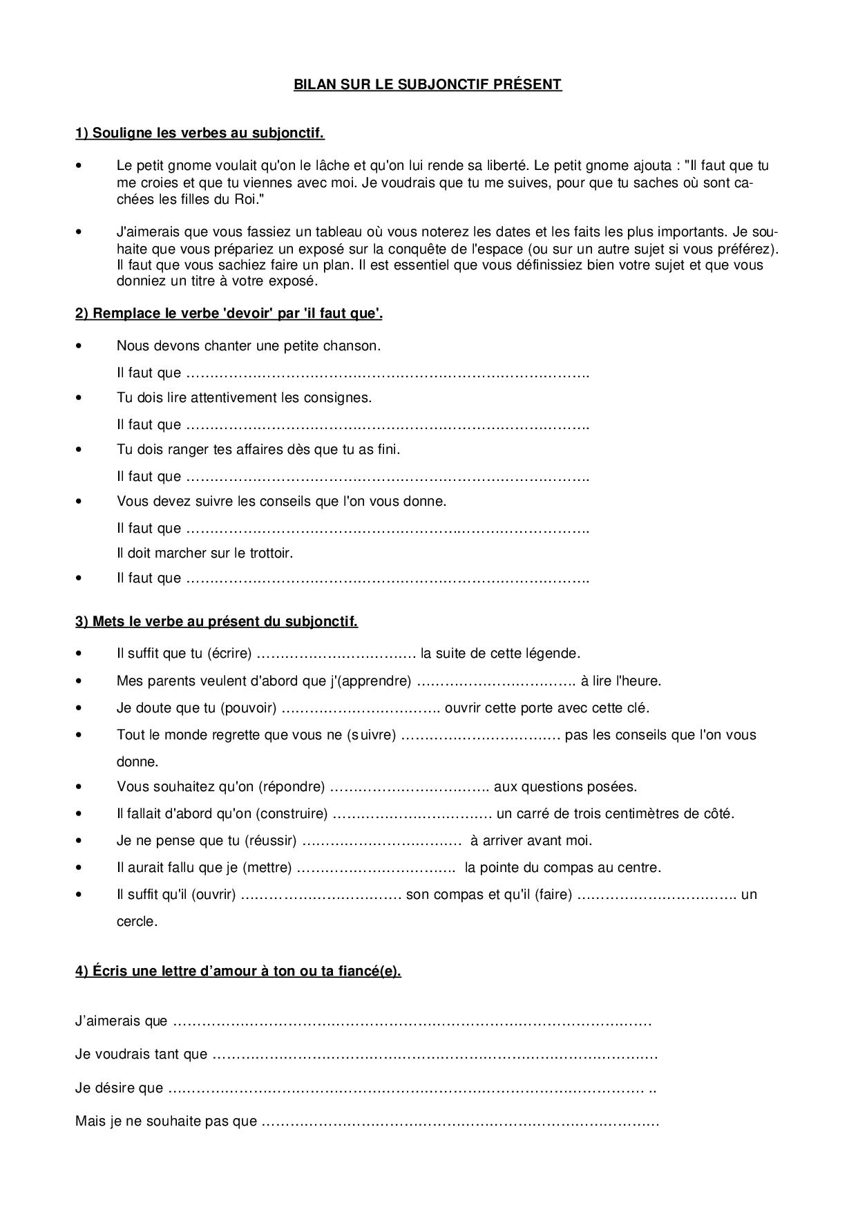 Subjonctif - ćwiczenie 11 - Francuski przy kawie