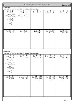 Addition et soustraction de fractions - Exercices - AlloSchool