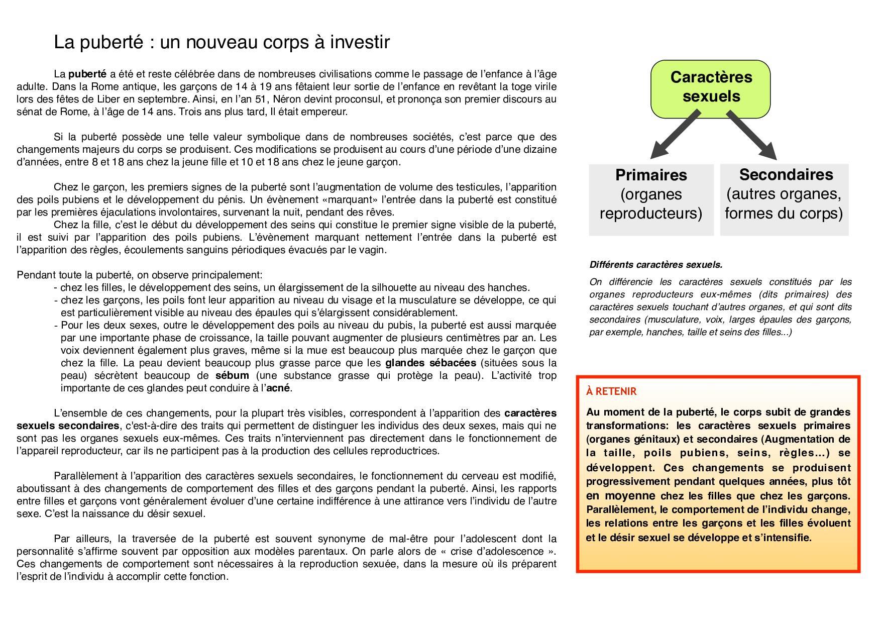 La reproduction humaine - Cours - AlloSchool