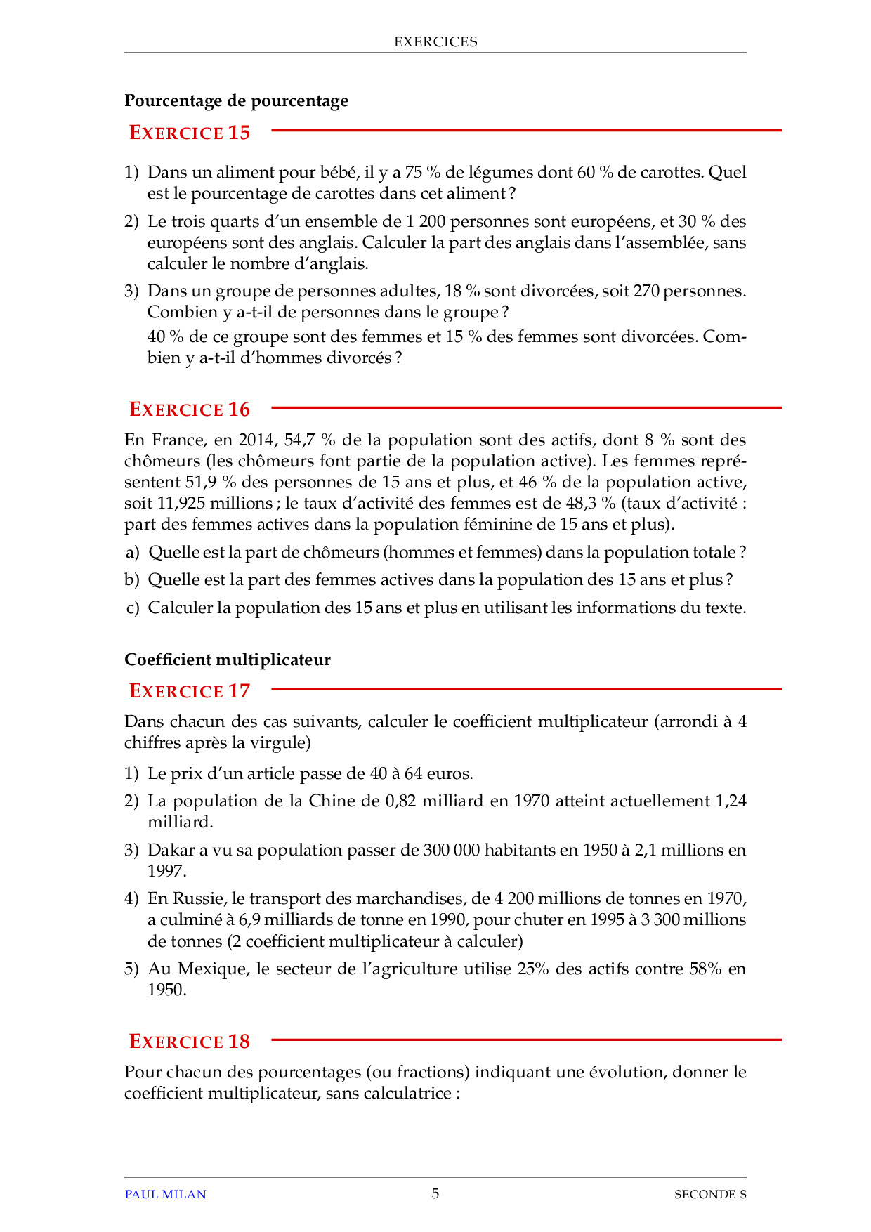 Statistiques - Probabilités - Exercices non corrigés - AlloSchool