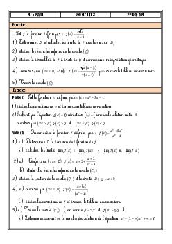 Devoir 1 Modèle 6 - Mathématiques 1 Bac SM Semestre 2 - AlloSchool