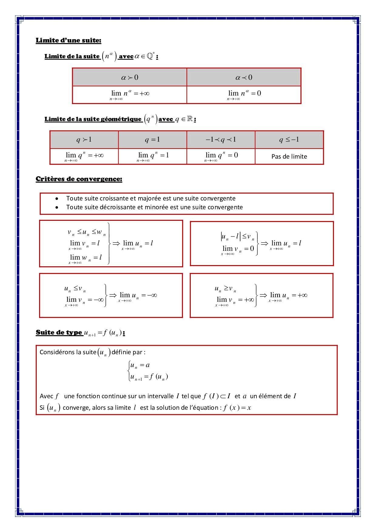 Suites Num 233 Riques R 233 Sum 233 De Cours 4 Alloschool