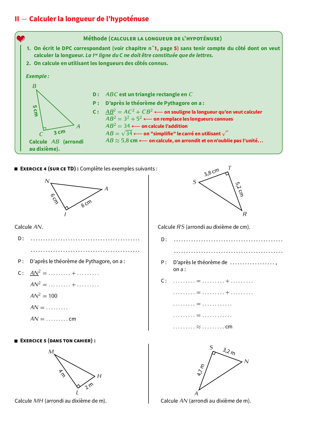 Théorème de pythagore - Cours et exercices (FR) - AlloSchool