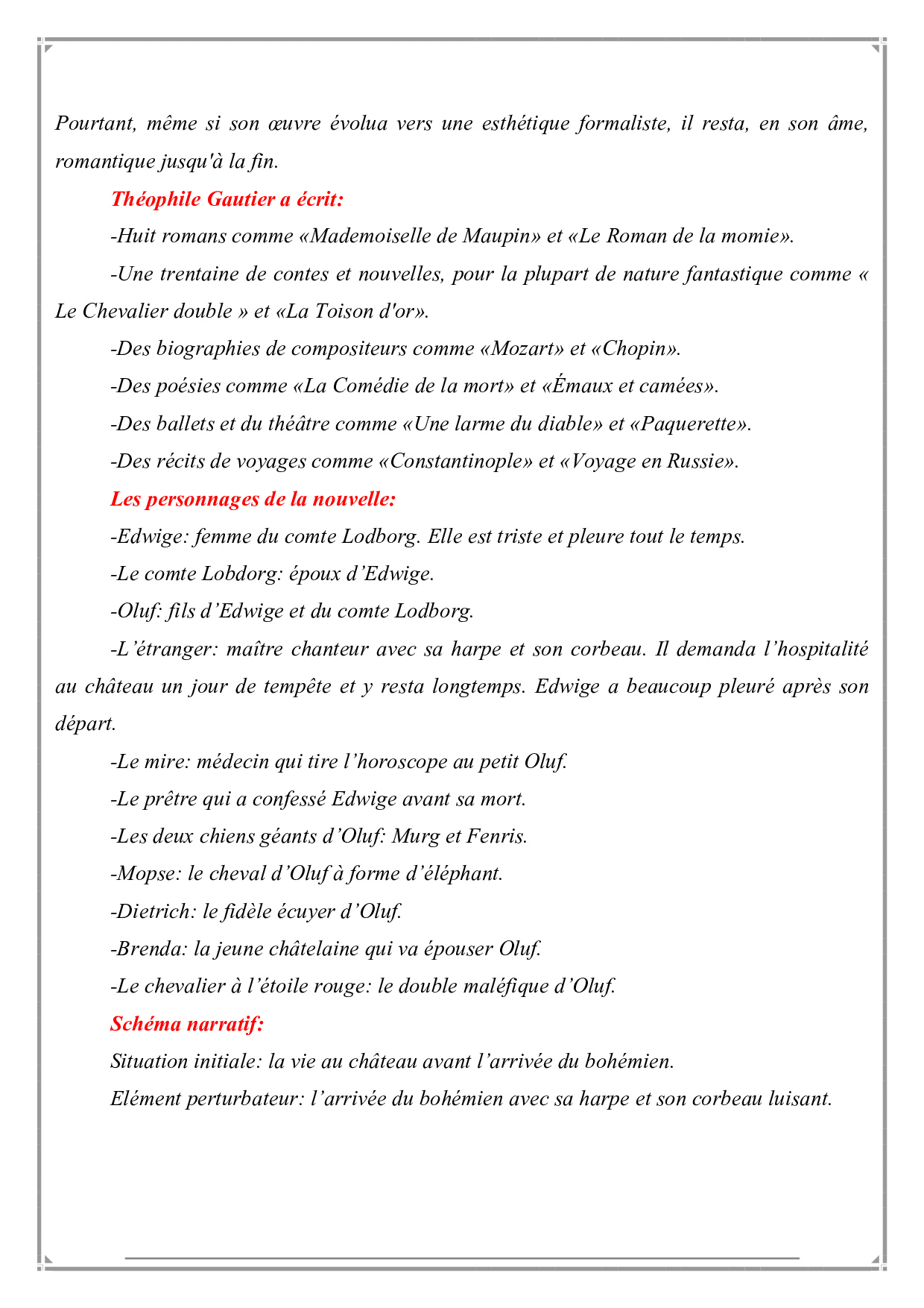 Le Chevalier Double Fiche De Lecture Alloschool