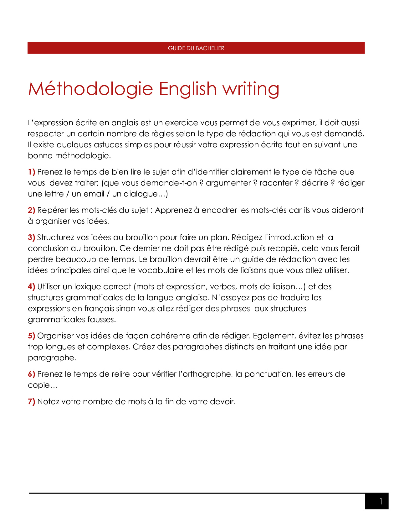 Help with english writing unit 2