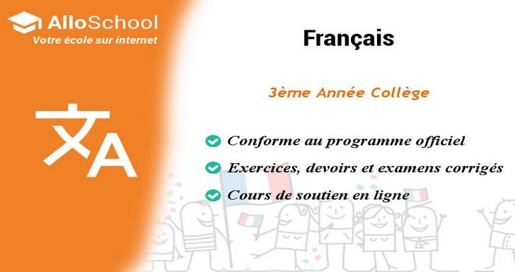 Francais 3eme Annee College Alloschoolalloschool