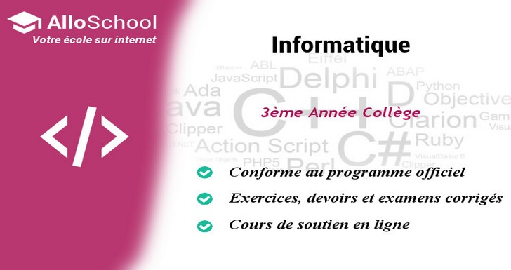 Informatique 3eme Annee College Alloschoolalloschool
