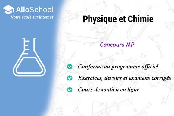 Annales physique et chimie mp 2001
