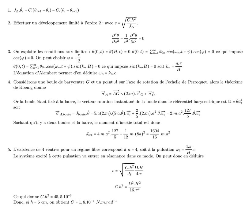 Exercices Corriges Phenomenes De Propagation Non Dispersifs Equation De D Alembert Alloschool